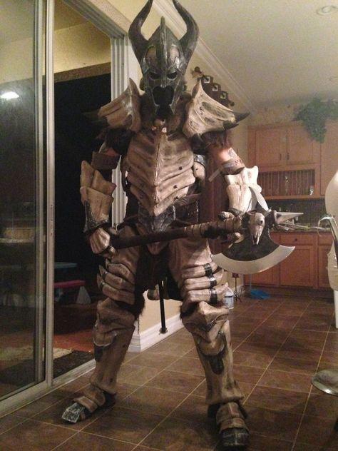"""Skyrim Dragonbone Armor #skyrim #cosplay -or- """"I'm ready to chop the turkey now, dear"""""""