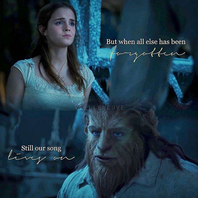 """#BeautyandtheBeast2017  Belle & the beast  """"But when all else has been forgotten, still our song lives on"""""""