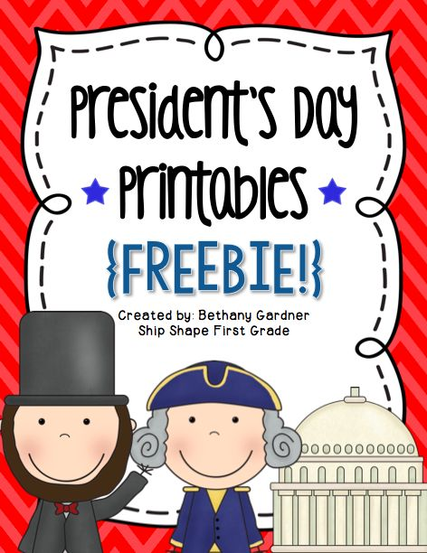 Presidents Day Printables {Freebie!} - Ship Shape First Grade