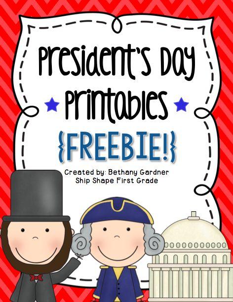 Presidents Day Printables {Freebie!} - Ship Shape First Grade