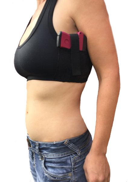 COMFORTABLE SPORTS BRA GUN HOLSTER. DESIGNED FOR EVERYDAY CARRYFORWOMEN.Designed for small guns. Each holster fits your firearm like a glove with just enough