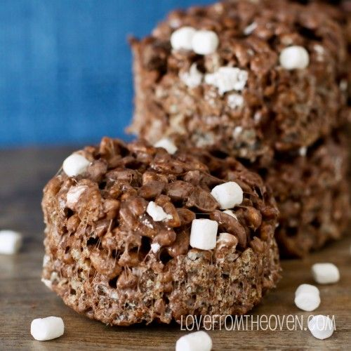 Triple Chocolate Rice Krispies Treats With Jet Puffed Mallow Bits.  SO good and SO easy.