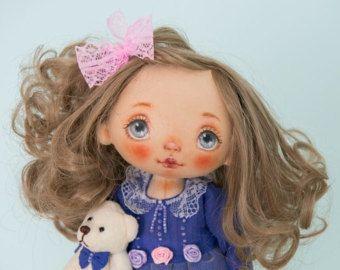 Art doll fabric doll rag doll textile doll от AliceMoonClub