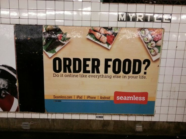 """ORDER FOOD? Do it online like everything else in your life."" (...sucker)"