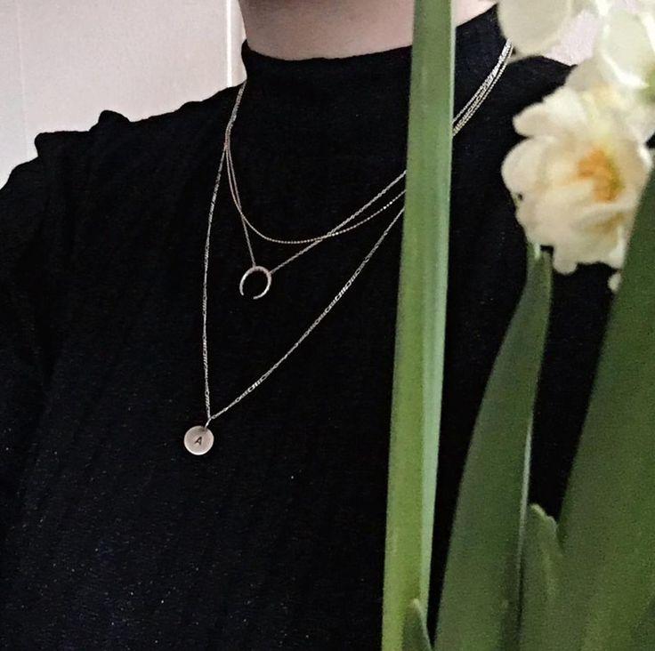 Styling by amalieschultz showing Figaro Chain Silver 57 cm  and Honeycomb tusk Necklace Silver #jewellery #Jewelry #bangles #amulet #dogtag #medallion #choker #charms #Pendant #Earring #EarringBackPeace #EarJacket #EarSticks #Necklace #Earcuff #Bracelet #Minimal #minimalistic #ContemporaryJewellery #zirkonia #Gemstone #JewelleryStone #JewelleryDesign #CreativeJewellery #OxidizedJewellery #gold #silver #rosegold #hoops #armcuff #jewls #jewelleryInspiration #JewelleryInspo #accesories…