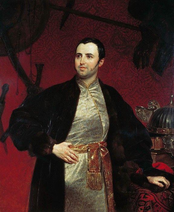 Портрет князя Михаила Андреевича Оболенского.. Карл Павлович Брюллов