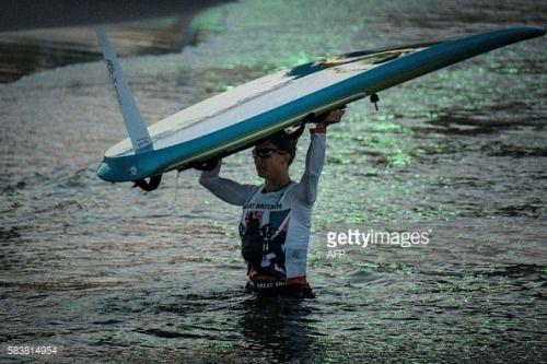 British windsurfer Bryony Shaw, Olympic Bronze medalist in 2008,... #dewaal: British windsurfer Bryony Shaw, Olympic Bronze… #dewaal