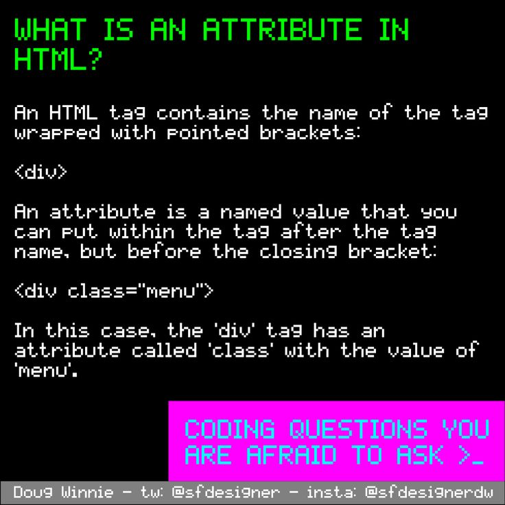 What is an attribute in HTML? #questions #coding #programming #afraidtoask
