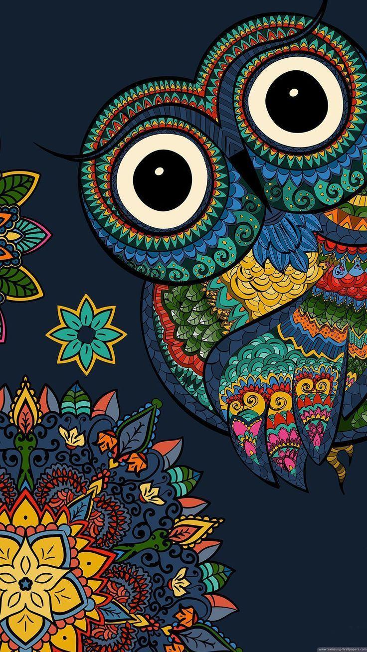 Wallpaper Android Samsung 1080×1920 Owl Cartoon Stock