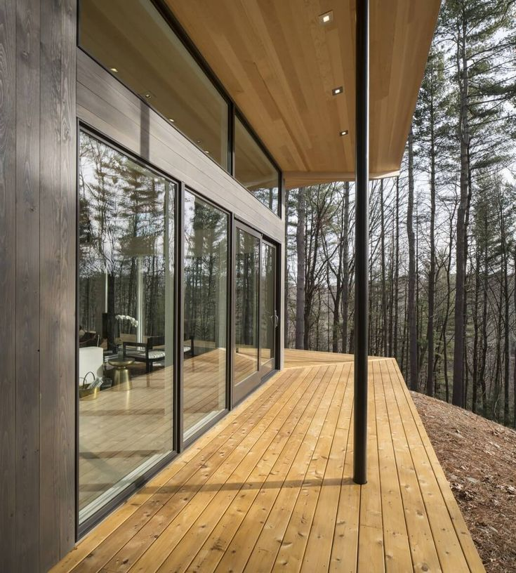 Large Glass Sliding Doors Open Up This Lantern Ridge House By Studio MM.  Achieve The