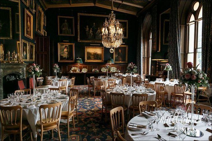 Wedding breakfast room at Eastnor Castle wedding venue, Herefordshire