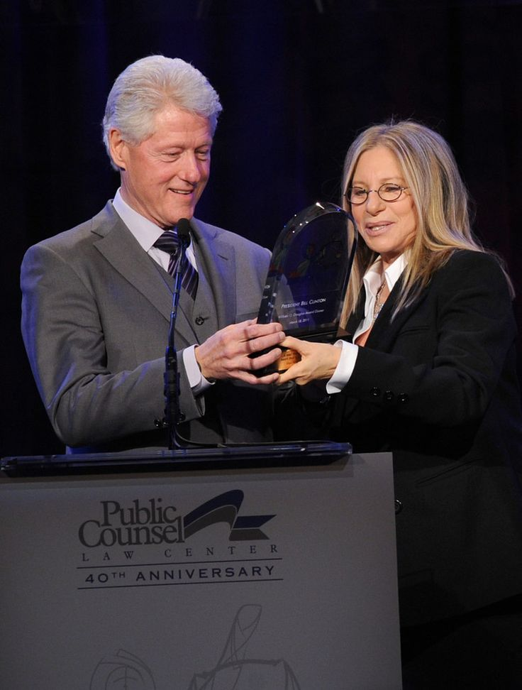 Barbra Streisand Bill Clinton Photos: Public Counsel's William O. Douglas Dinner - Inside