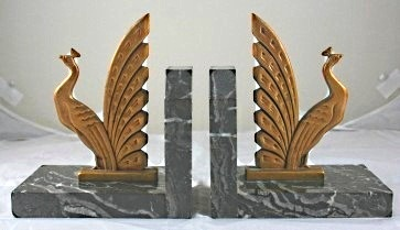 Pair of Art Deco bookends, ca. 1930.
