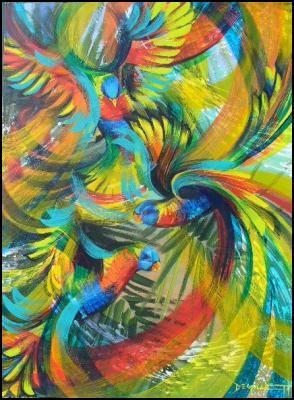 Birdbath - art by Deb Gillett