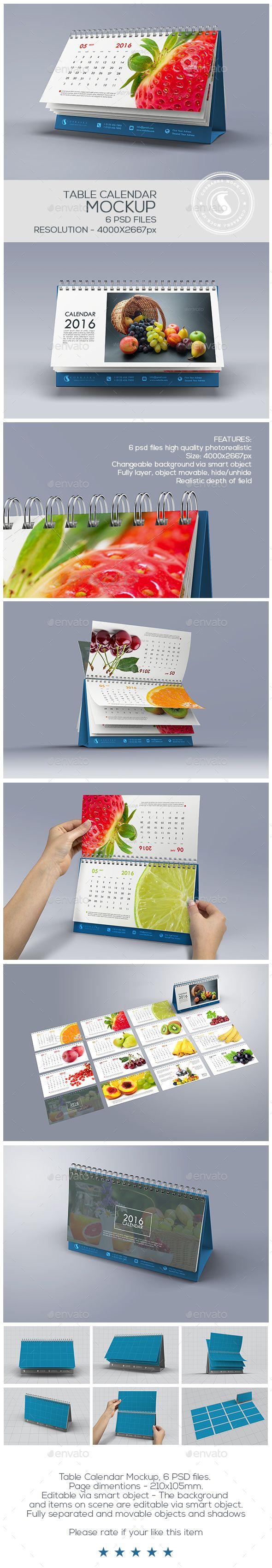 Calendar Landscape Mock-Up. Download here: http://graphicriver.net/item/calendar-landscape-mockup/15031221?ref=ksioks