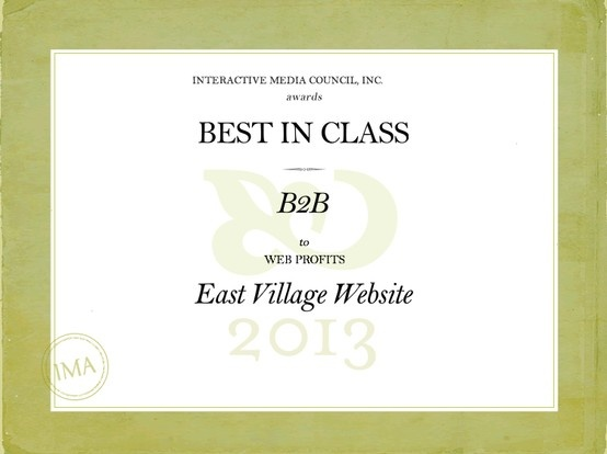 We're excited to announce that our #WebDesign for East Village (www.eastvillage.com.au) has recently won Best #B2B #Website in the Interactive Media #Awards (IMA). A perfect day to celebrate…