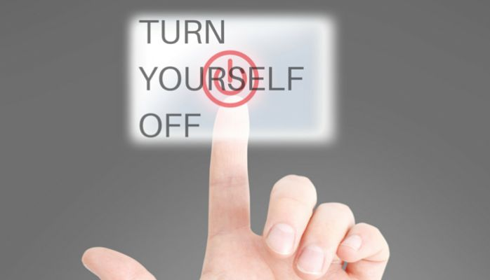How to Turn Yourself Off #business #relax #shut down #sleep #work #electronics