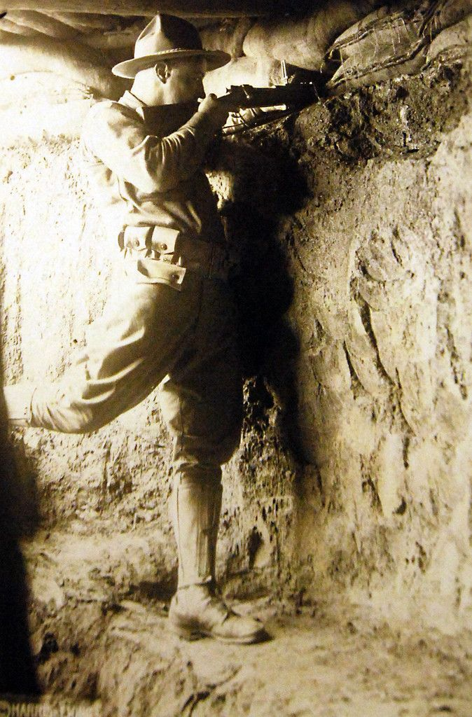 Dec 13 1917 American Expeditionary Forces, WWI. sharp-shooter, Dec 13 1917.