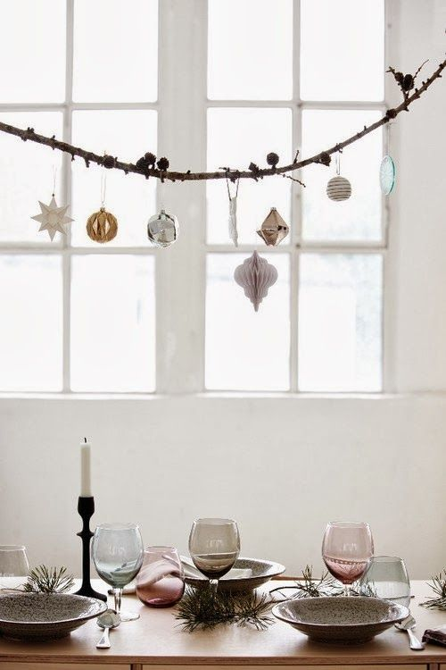 holiday inspiration in white, pastel and gold