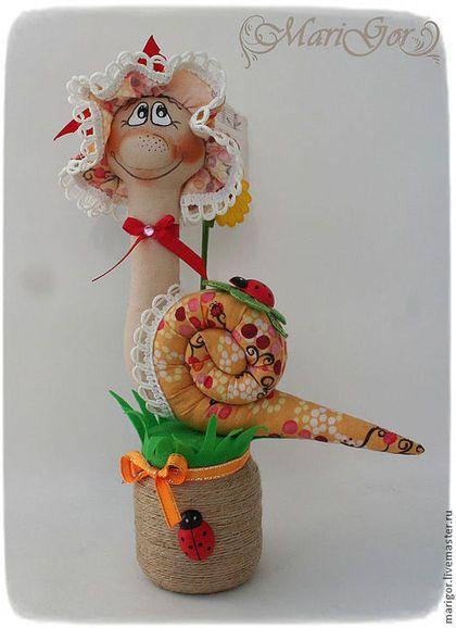 Улитка Оранжевая Радость - оранжевый,улитка-баранка,улитка в подарок,подарок на день рождения
