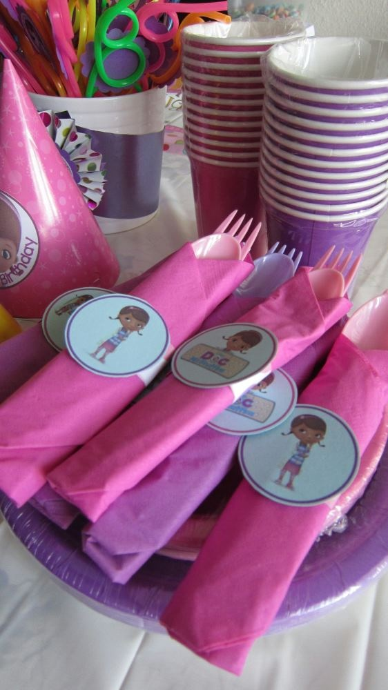 Doc McStuffins Birthday Party Theme. Spoons and Forks