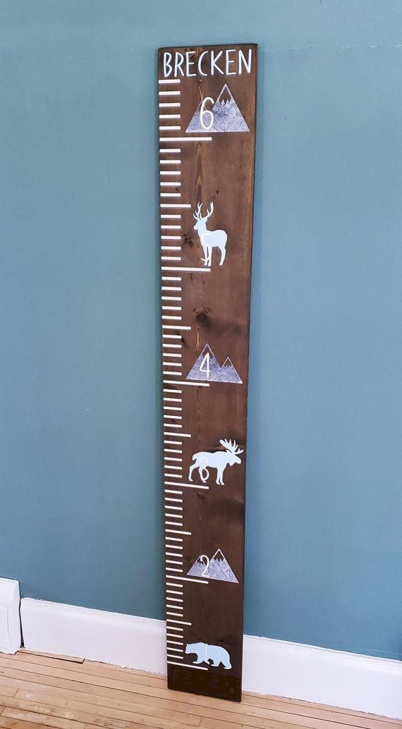 6ft Wilderness Growth Chart Ruler Height Measuring Board