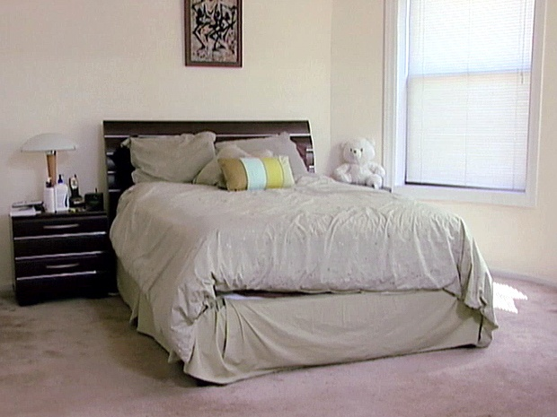 A little rearranging takes this bedroom from ick to for Ideas for rearranging your bedroom