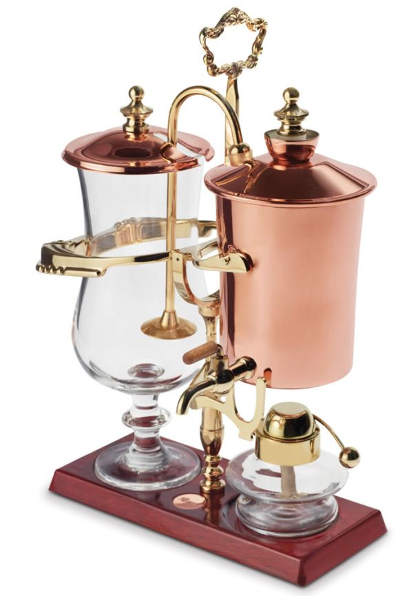 Steampunk coffee maker. Boiling water and pressure changes equal old-timey coffee-making.