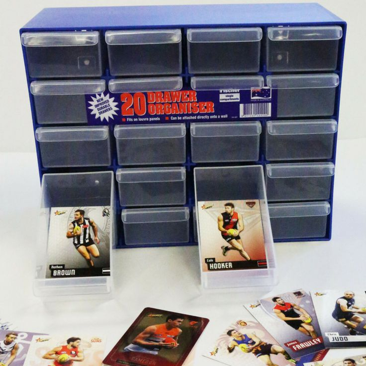 The Fischer Plastics Draw Organisers are a tough and durable storage solution. Have you considered using them for storing cards? The tray dimensions fit most popular cards and will fit all standard sized cards. #organised #AFL