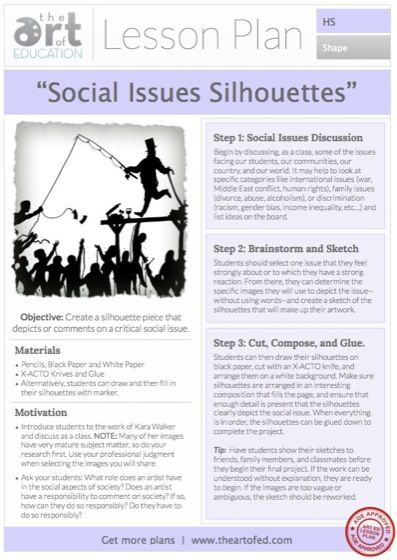 Social Issues Silhouettes: Free Lesson Plan Download