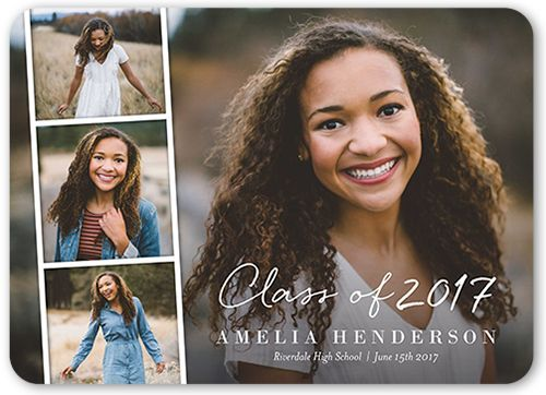 Graduation Announcements: Filmstrip Grad,  Announcement, Rounded Corners, Dynamiccolor