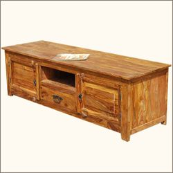 rustic solid wood long appalachian tv stand console