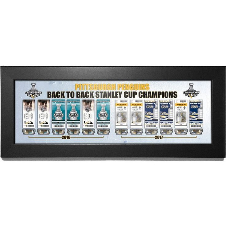 2017 Stanley Cup Champions Pittsburgh Penguins Back to Back Tickets to History Framed Print, Team