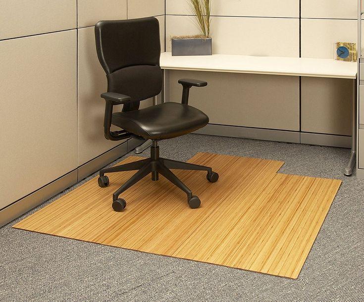 Bamboo Desk Chair Mat - Guest Desk Decorating Ideas Check more at http://www.sewcraftyjenn.com/bamboo-desk-chair-mat/