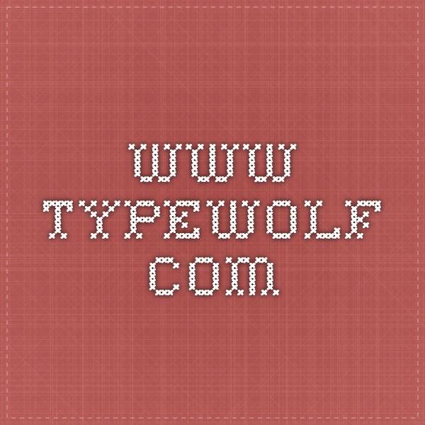 www.typewolf.com