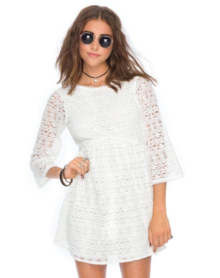 Vestido blanco encaje barato