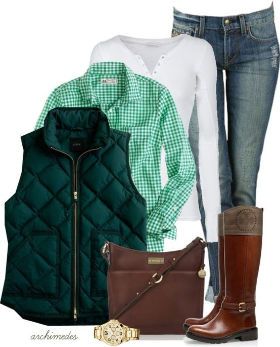 This is very casual - but has no age restrictions and layering is always good.  Like the whole look.