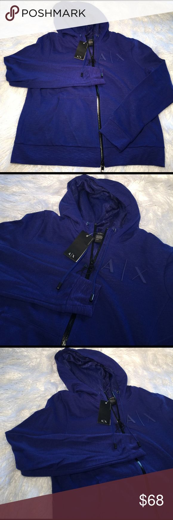 A/X ARMANI EXCHANGE Mesh Hoodie Zip Up A/X ARMANI EXCHANGE Mesh Hoodie Zip Up Women's A/X Armani Exchange Tops Sweatshirts & Hoodies