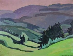 Landscape - Olie op karton - Signed - Gedateerd 1959