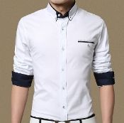 Mens Faux Double Collar Shirt