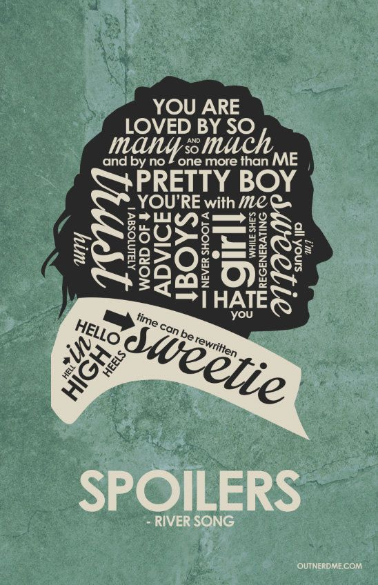 Dr. Who River Song Quote Poster by OutNerdMe on Etsy
