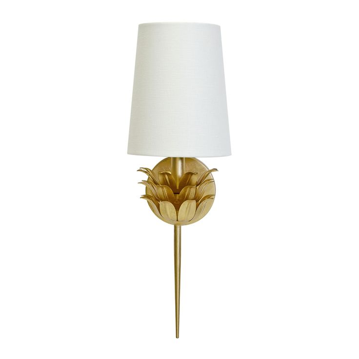 In silver too. Delilah Gold Leafed Wall Sconce by Worlds Away DELIHAH G