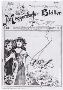 Cover design for Meggendorfer leaves - Коломан Мозер