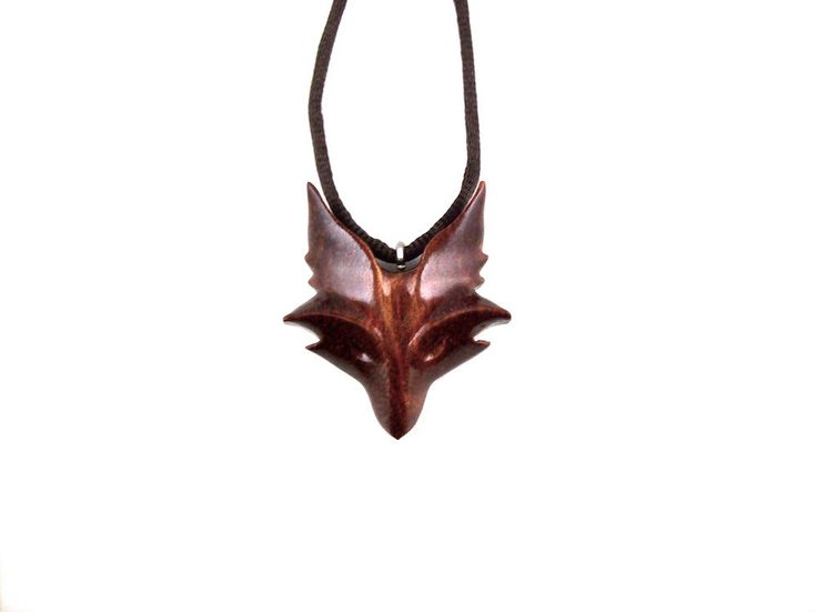 Celtic Fox Pendant, Fox Necklace, Fox Jewelry, Celtic Wooden Fox Pendant, Fox Necklace, Fox Totem Jewelry, Hand Carved Spirit Animal Pendant by GatewayAlpha on Etsy