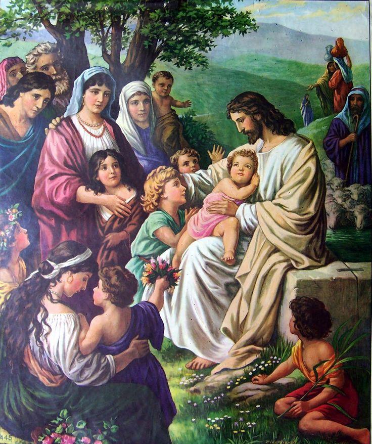 Иисус благословляет детей картинка