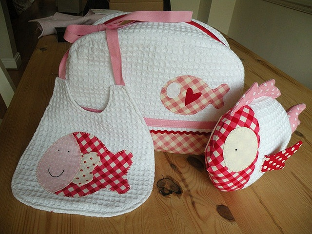 Baby girl red and pink set by countrykitty, via Flickr