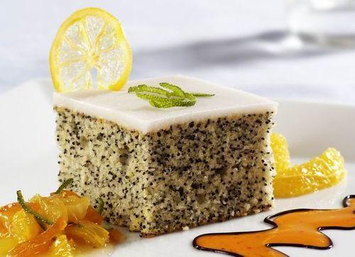Citromos-mákos kevert sütemény