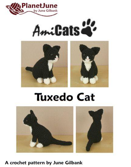 AmiCats Tuxedo Cat amigurumi crochet pattern