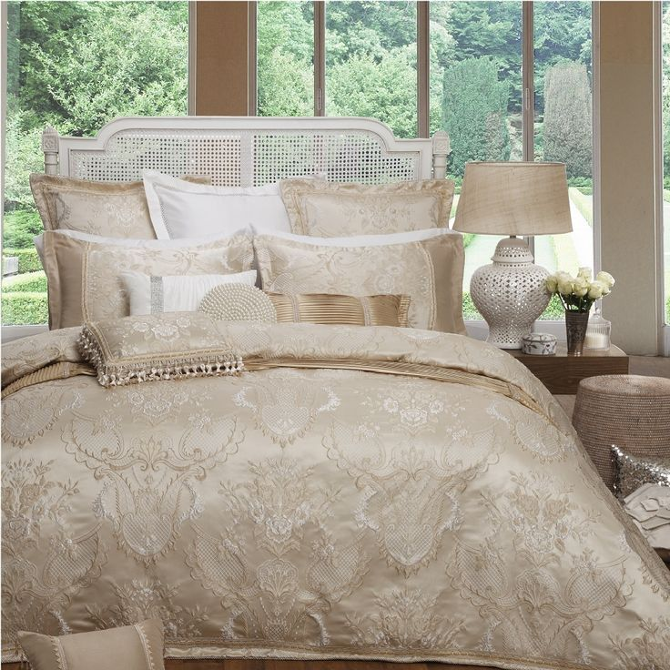 Da Vinci Antoinette Gold Quilt Cover Set | More Sizes Available by Simply The BEST on THEHOME.COM.AU