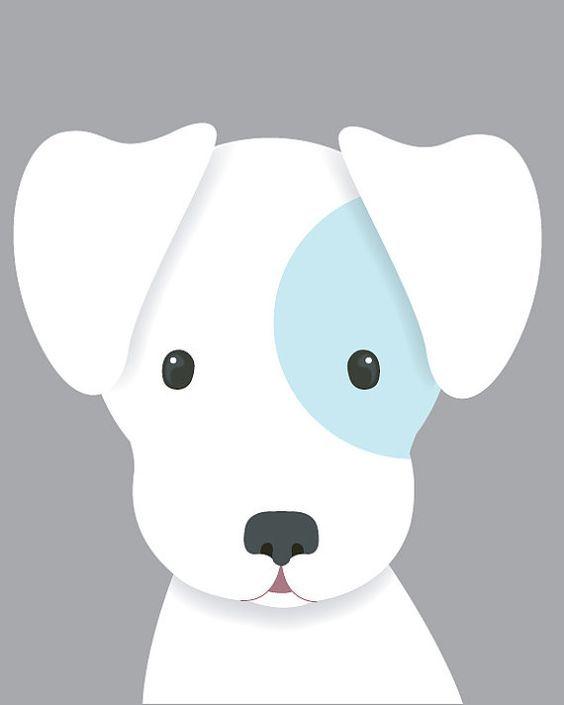 Dog Nursery Art Baby Boy Nursery Art Puppy by SweetLittleBarn: